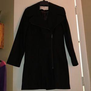 Jessica Simpson Black Wool Coat